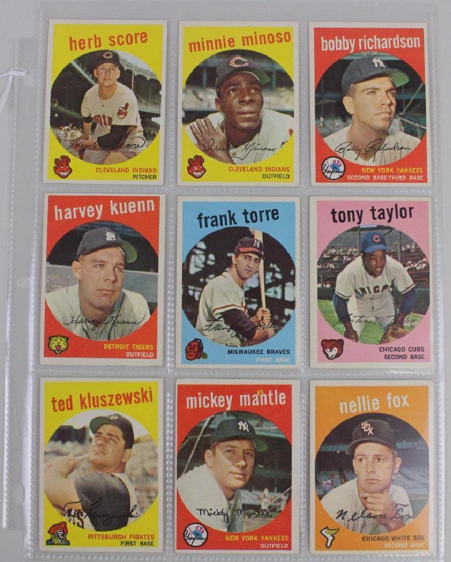 PLAYERS FROM BOTH LEAGUES 1959 - LOT OF 9