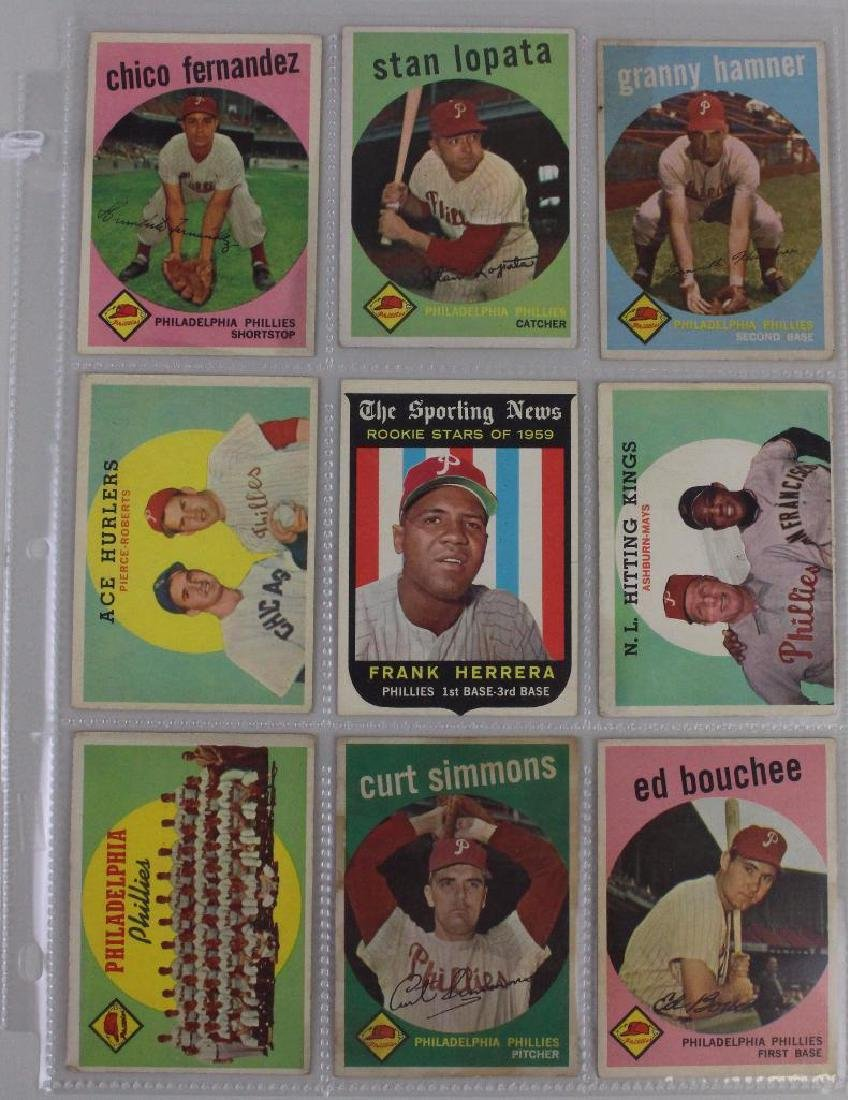 PHILLIES CARDS 1959 - LOT OF 9