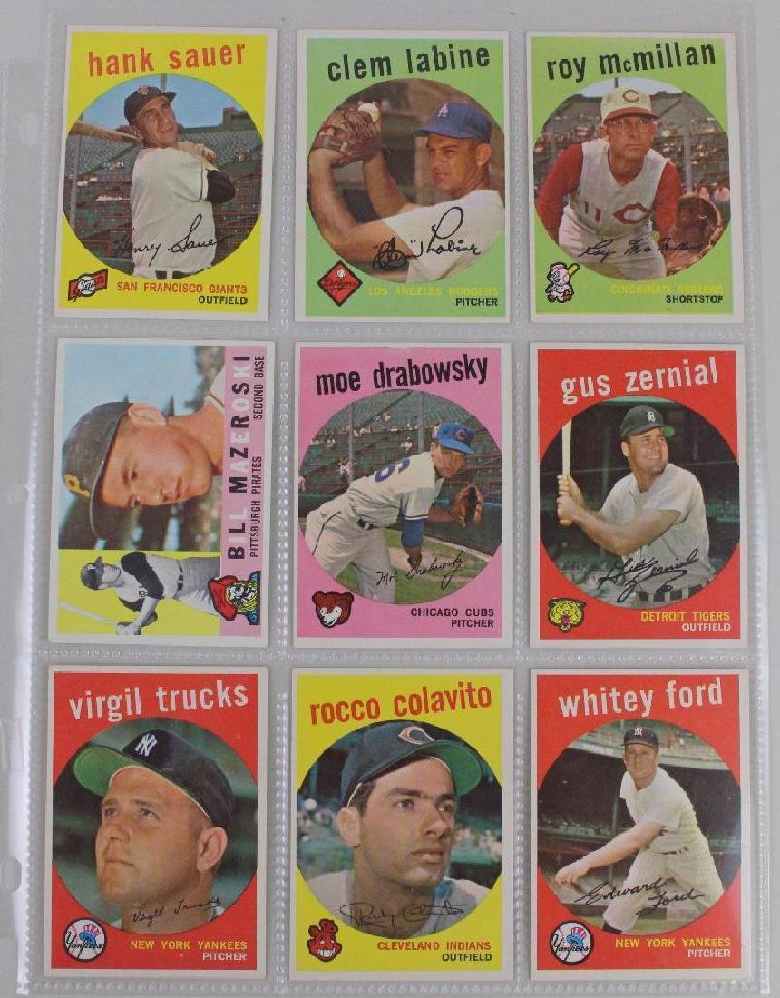 PLAYERS FROM BOTH LEAGUES 1959 - LOT OF 18