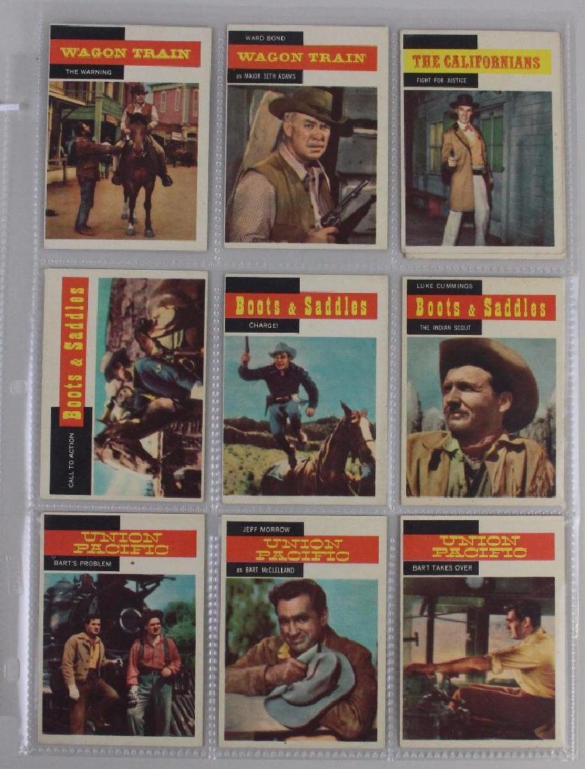 WAGON TRAIN, BOOTS & SADDLE, UNION PACIFIC - LOT OF 9