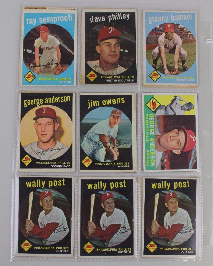 PHILLIES 1959 - LOT OF 18