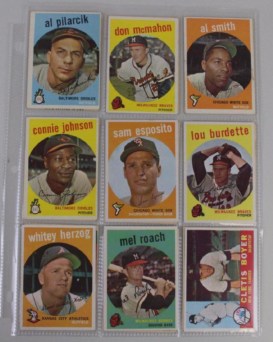 T.C.G. 1959 CARDS - LOT OF 54