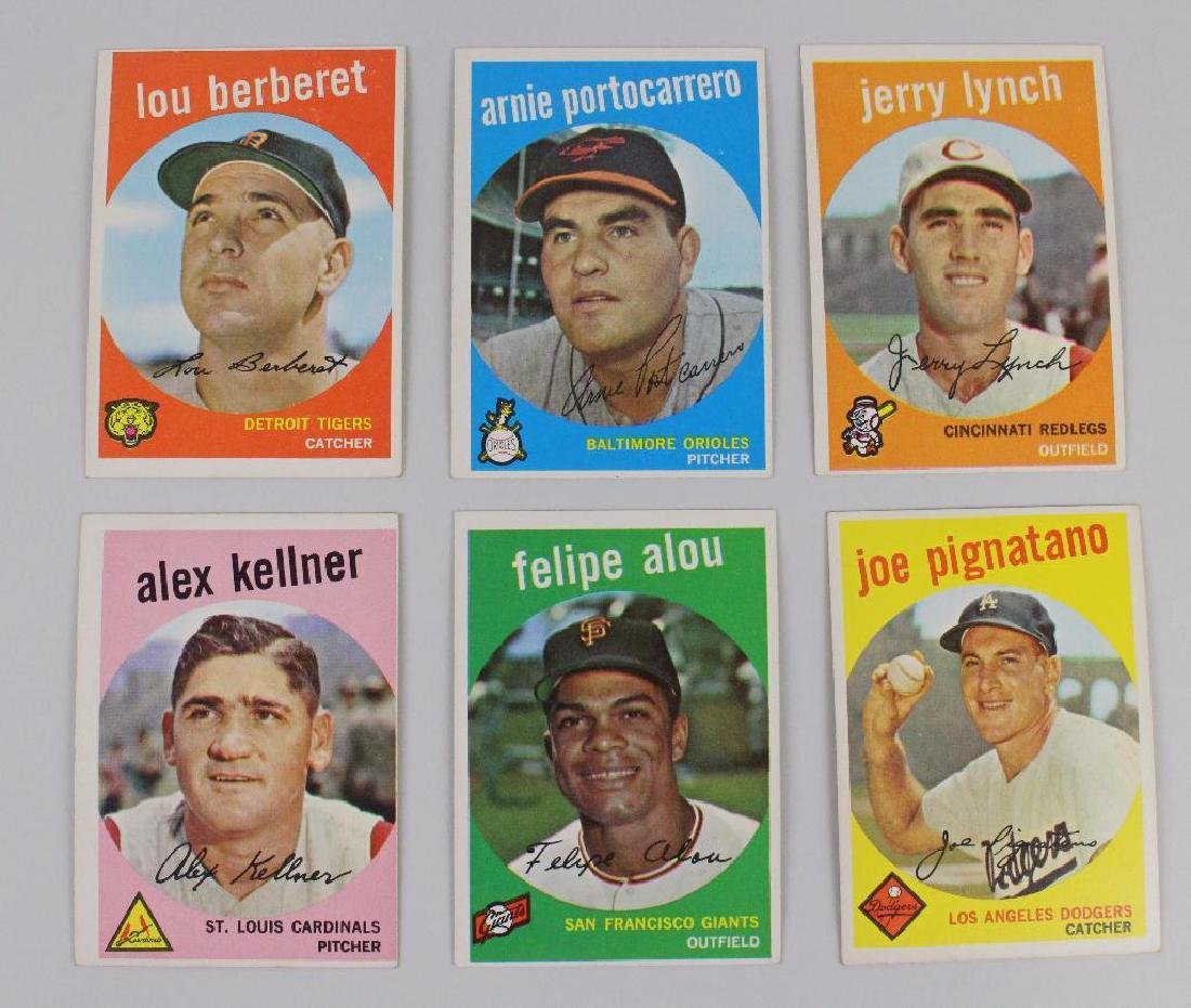 T.C.G. 1959 BASEBALL CARDS - LOT OF 35