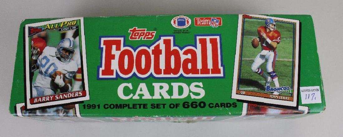 TOPPS 1991 FOOTBALL CARDS