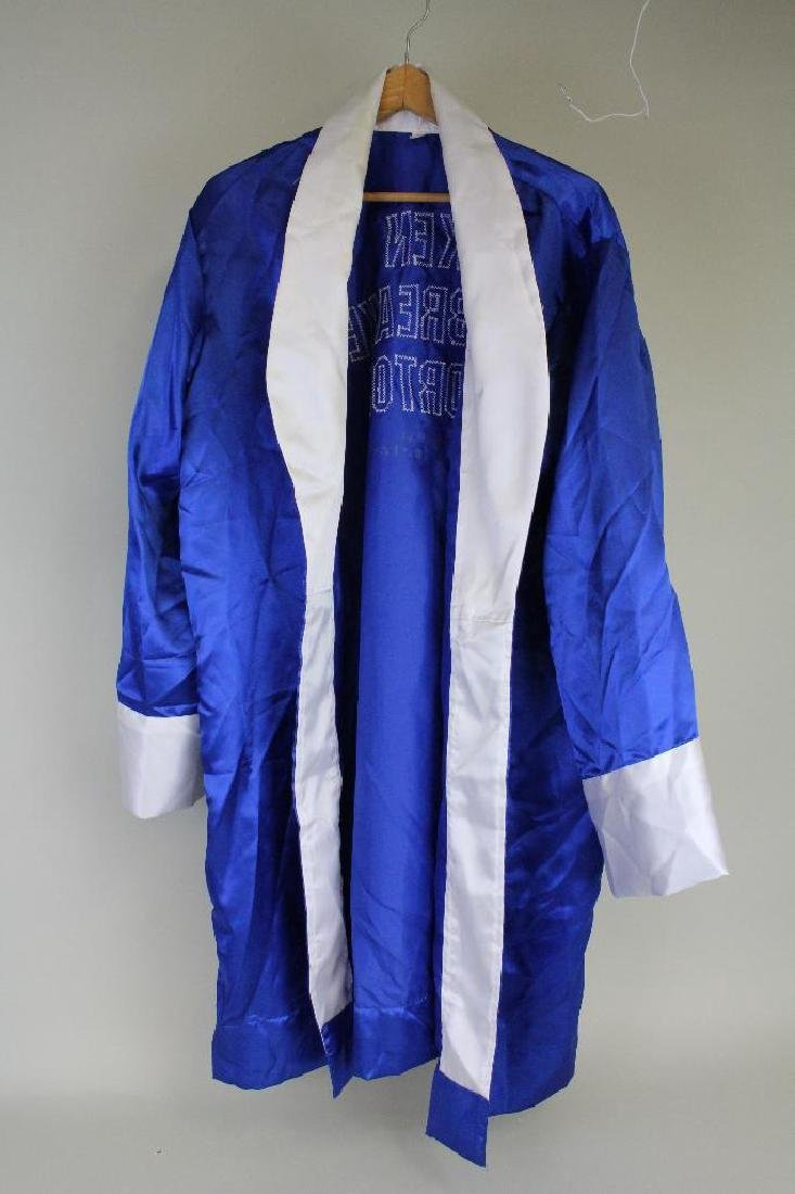 ATTRIBUTED KEN NORTON AUTOGRAPHED BOXING ROBE