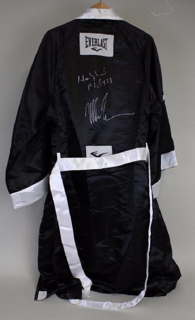 ATTRIBUTED MIKE TYSON AUTOGRAPHED  BOXING ROBE & TRUNKS