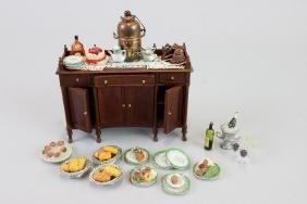 Buffet; Lot Artists Food, Porcelain