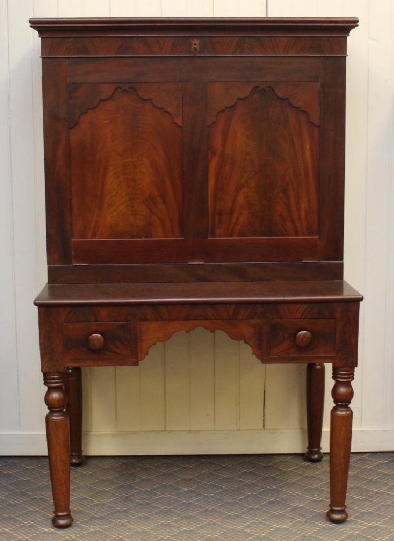Figured Mahogany Plantation Desk