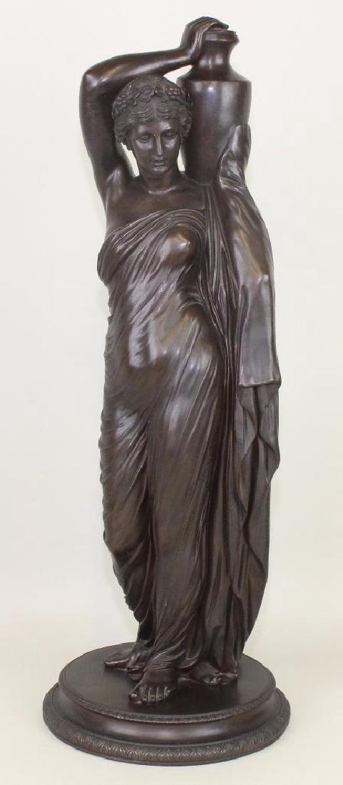 "Bronze Female Sculpture, ""Fonderia Sommer Napoli"""