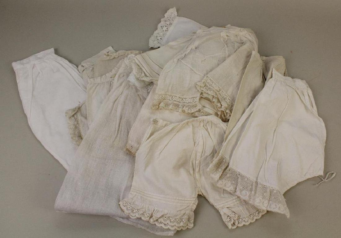DOLL PARTS & SUPPLIES: LOT OF ANTIQUE DOLL PANTALOONS.