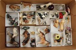LOT OF VINTAGE MINIATURES; CHINA ANIMAL COLLECTION.