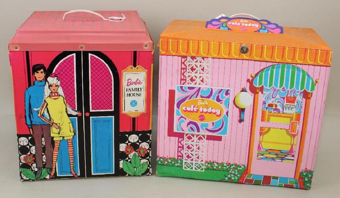 LOT OF BARBIE FAMILY: CAF� TODAY & FAMILY HOUSE.