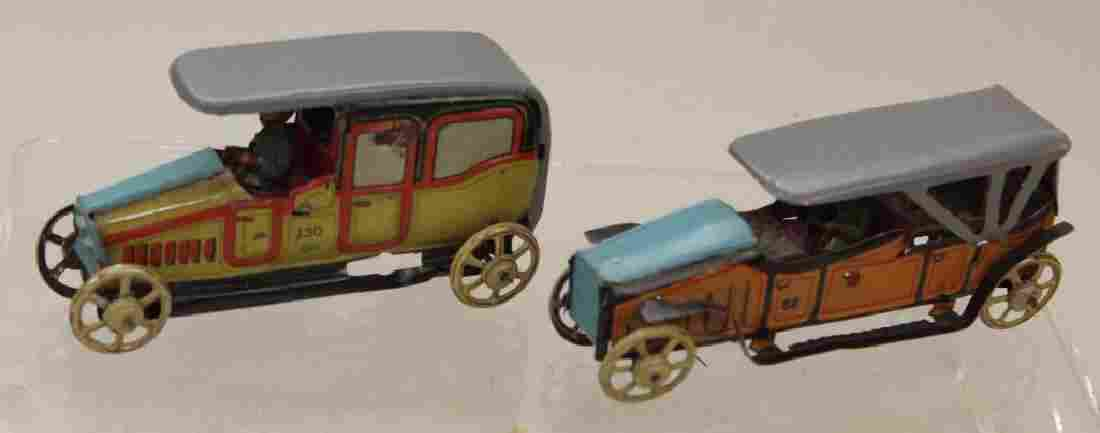 PAIR OF KELLERMAN GERMAN PENNY TOYS:  LIMOUSINE & TOY C