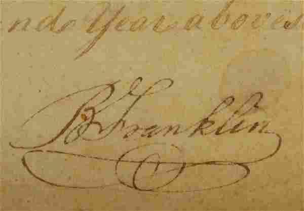 Autograph of Benjamin Franklin