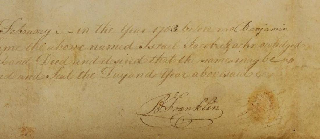 Autograph of Benjamin Franklin - 4