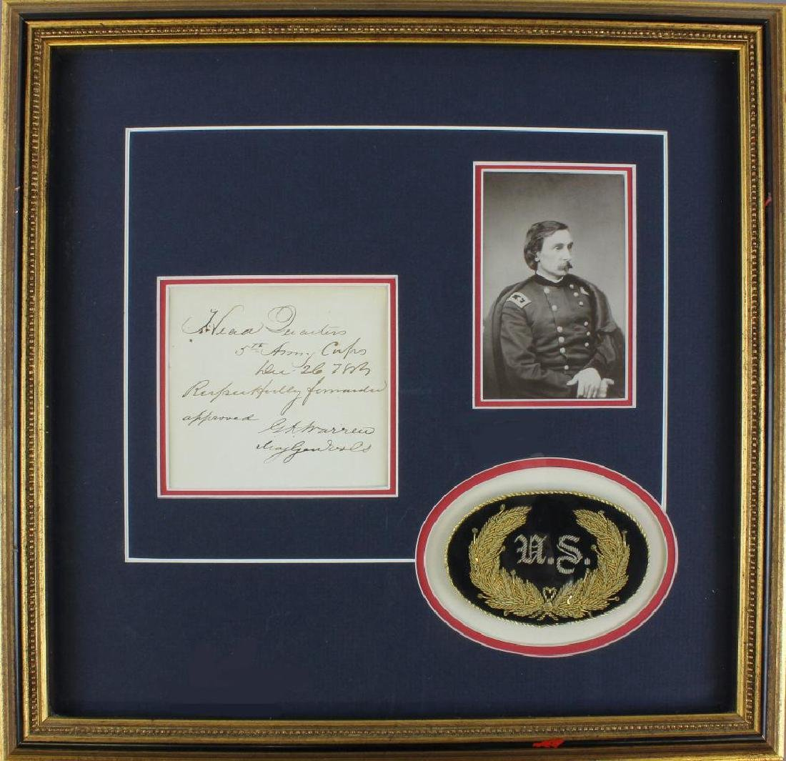 Civil War General Gouverneur Kemble Warren Autograph