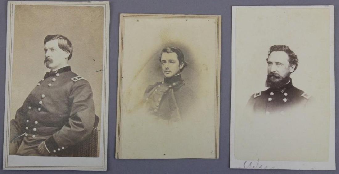 Grouping of CDV's of Civil War Generals and Civil War
