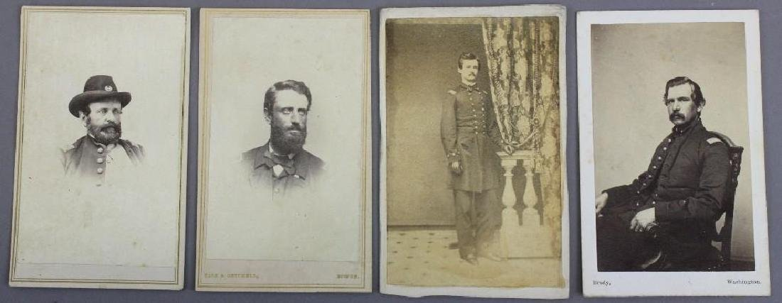 Grouping of Civil War CDV's of Officers
