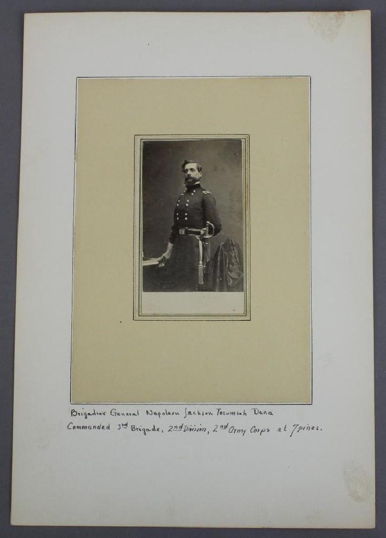 Albumin photograph of Civil War General Napoleon Dana