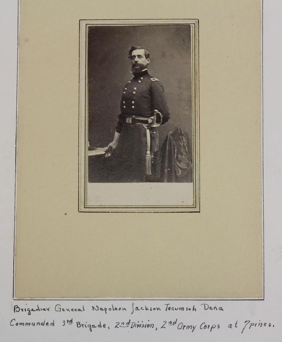 Albumin photograph of Civil War General Napoleon Dana - 2