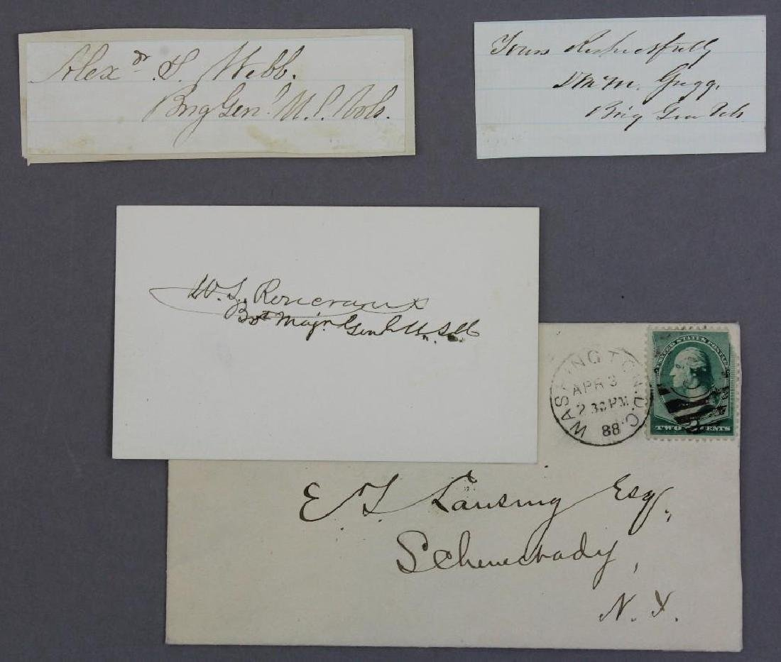 Autographs of Civil War Generals Webb, Gregg, and