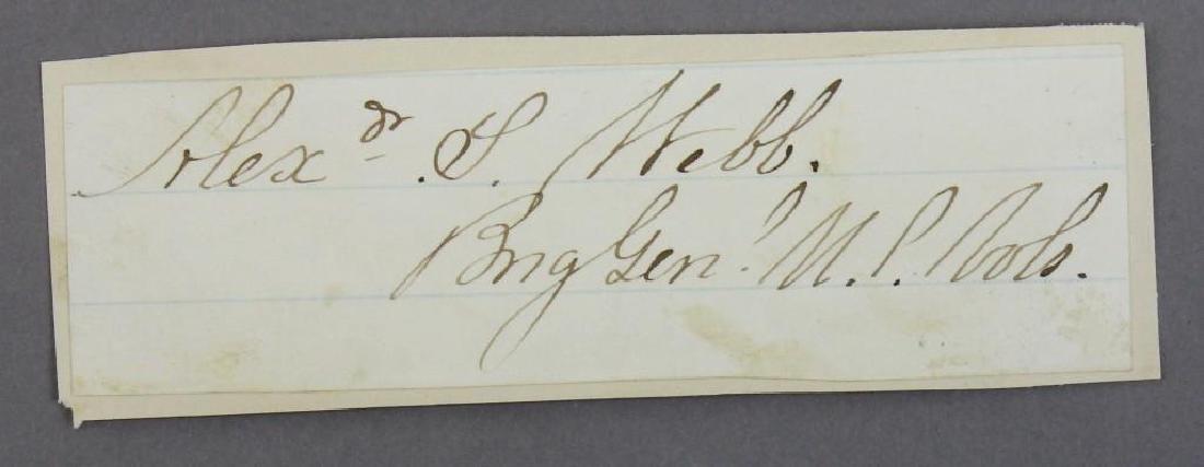 Autographs of Civil War Generals Webb, Gregg, and - 2