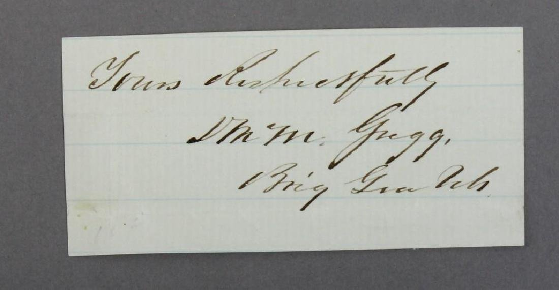 Autographs of Civil War Generals Webb, Gregg, and - 3