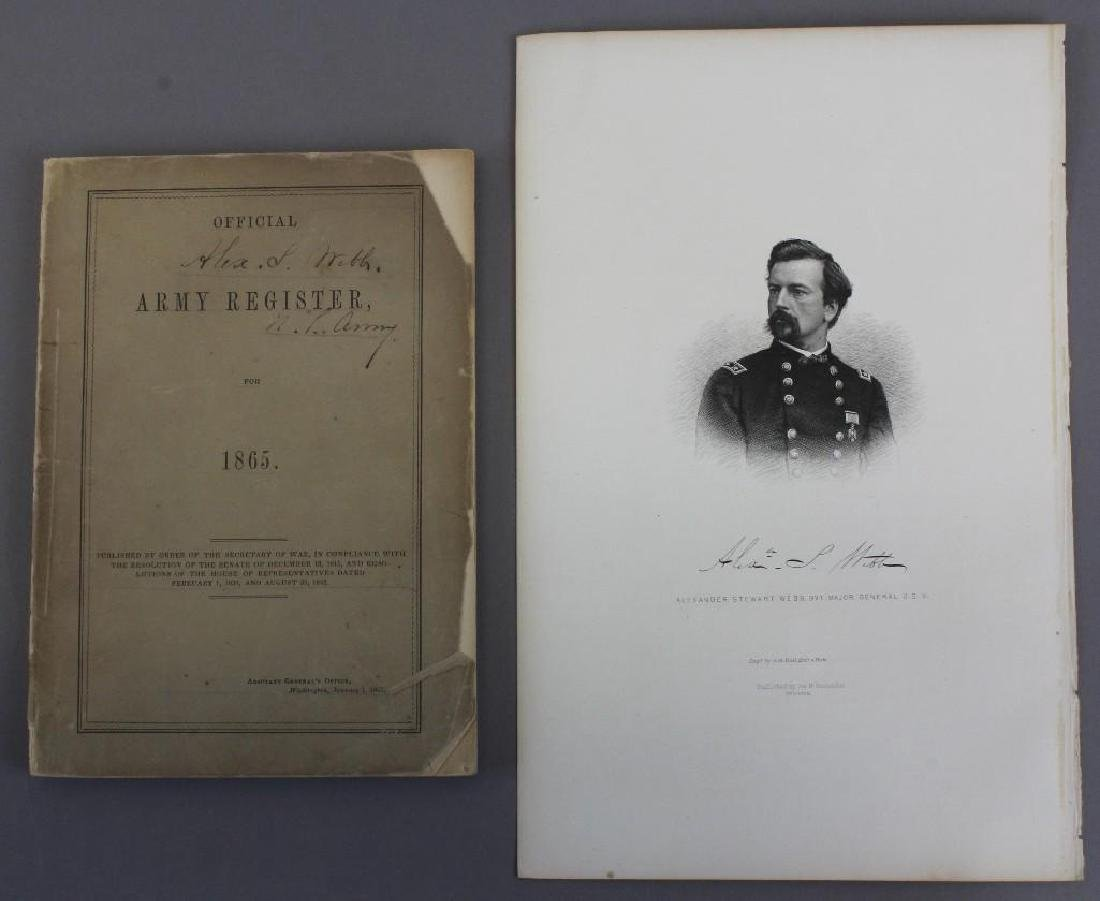 Army Register Signed and Owned by General Alexander