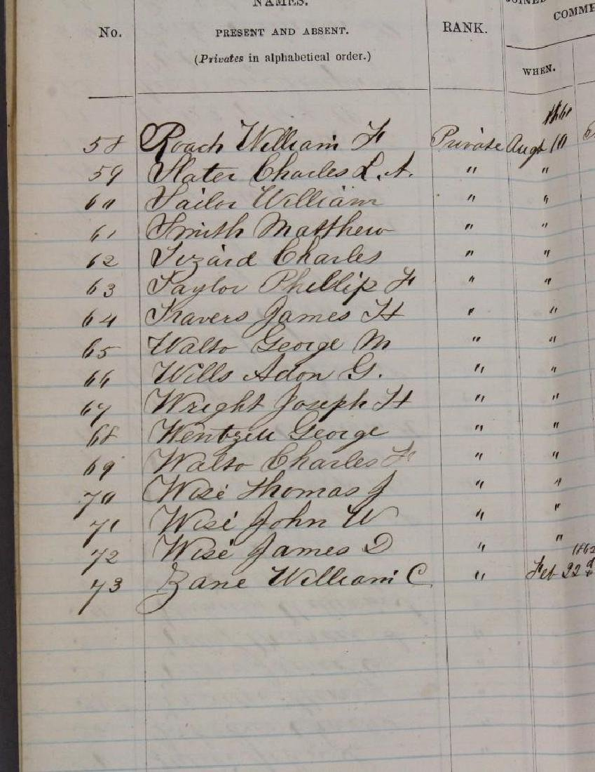 Civil War Documents Related to 72nd Pennsylvania - 7