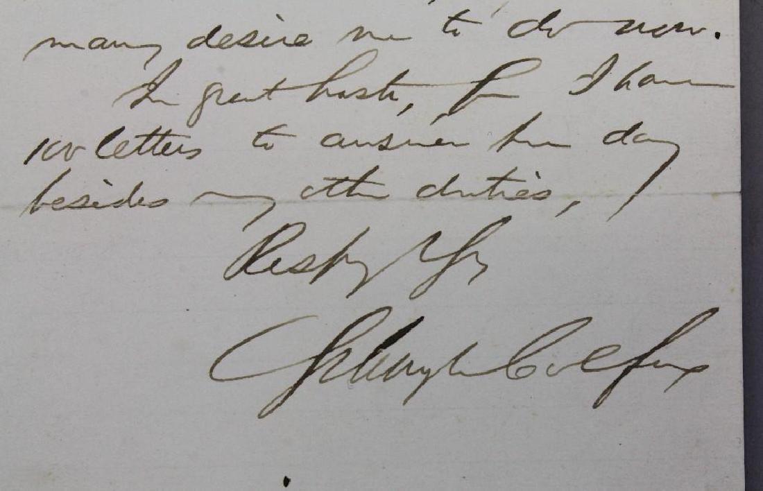 Autograph of Schuyler Colfax