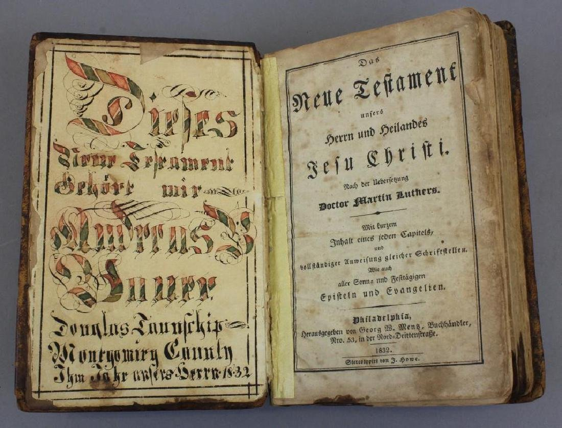 Early 19th century Mennonite Fractur in Hymnal/Psalm