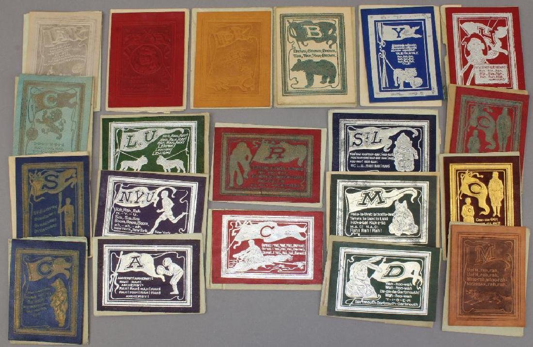 Collection of University Leather Trading Cards