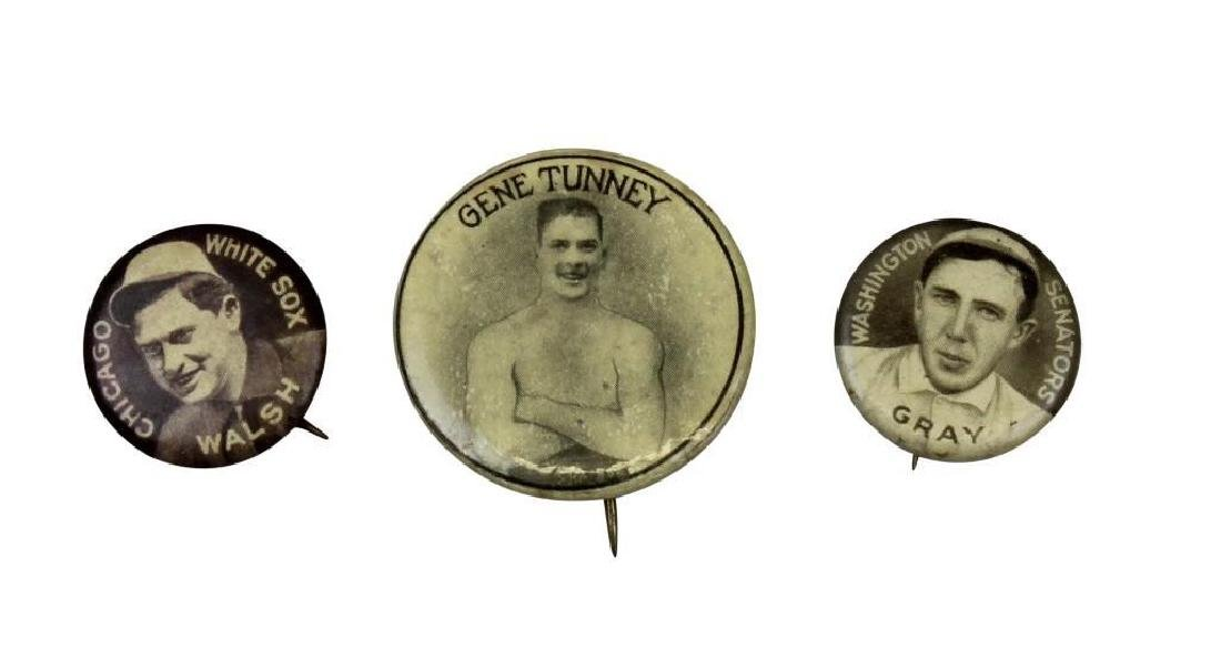 Early 20th Century Sports Pins-Tunney Boxing