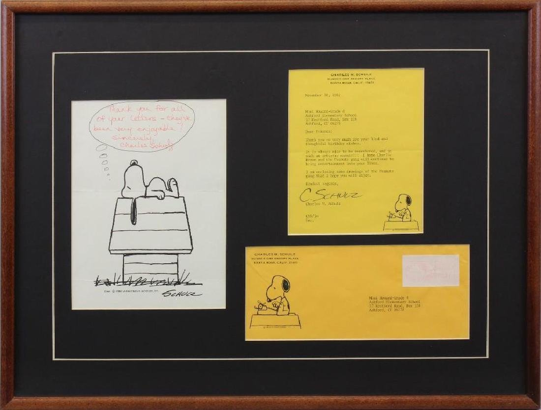 Charles Schulz Signature, Letter to Grade 4 at Ashford