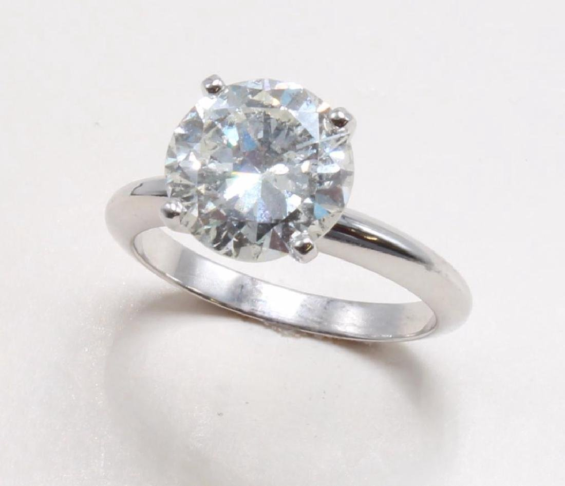 3.26ct Diamond Ring. 14K White Gold. AGA Certified