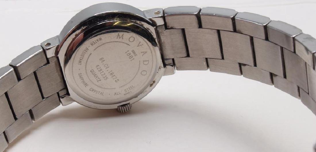 Ladies Movado Wrist Watch with Diamonds. Stainless - 2