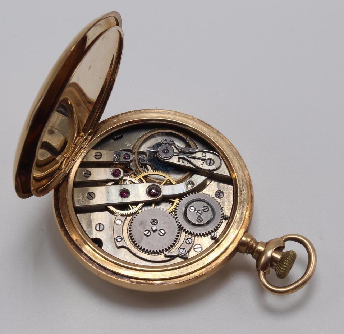 Geneva Pocket Watch. 14K Yellow Gold - 3