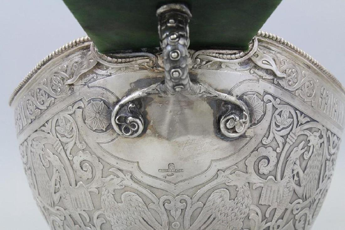 19/20th C. Large Russian Silver Presentation Kovsh by - 5