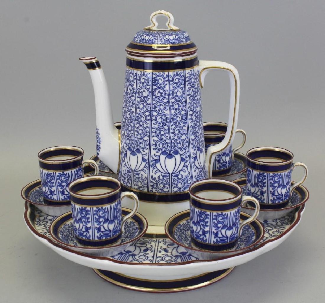 "Royal Worcester ""Royal Lily"" for Tiffany, Demitasse Set"