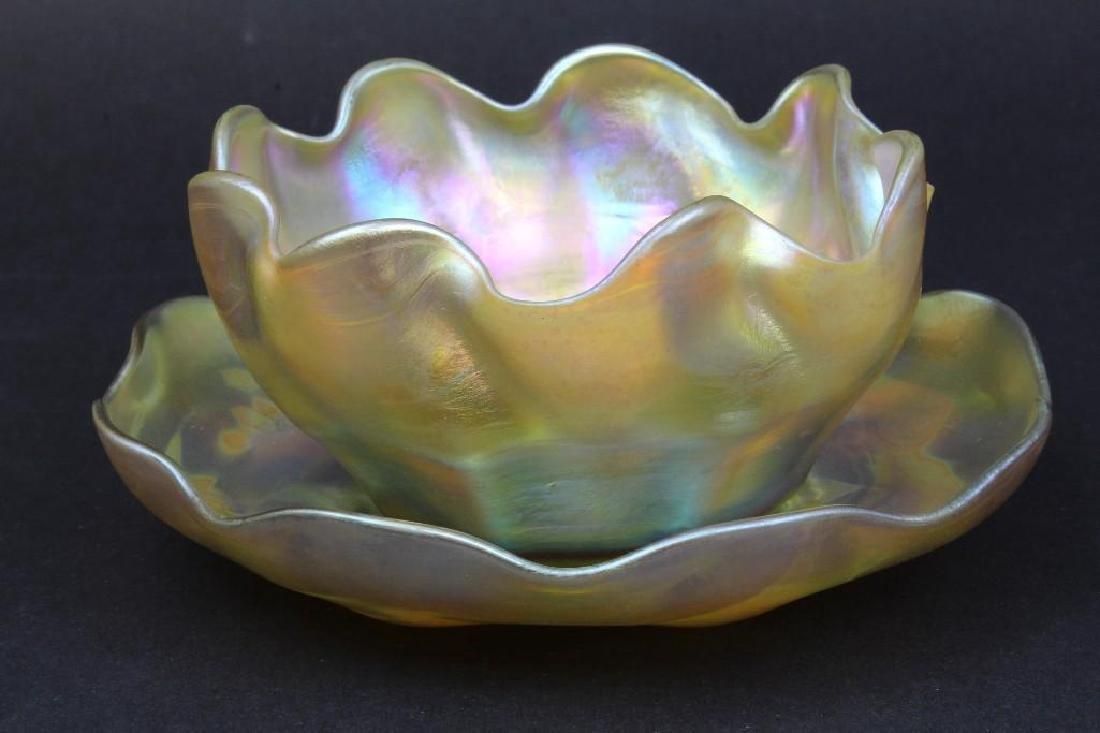 Tiffany Studio Finger Bowl and Saucer - 3