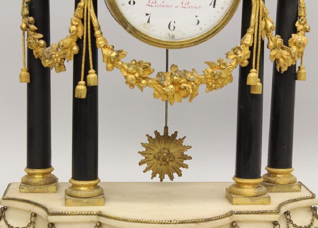 Piolaine White Marble and Ormolu Mantel Clock. - 10