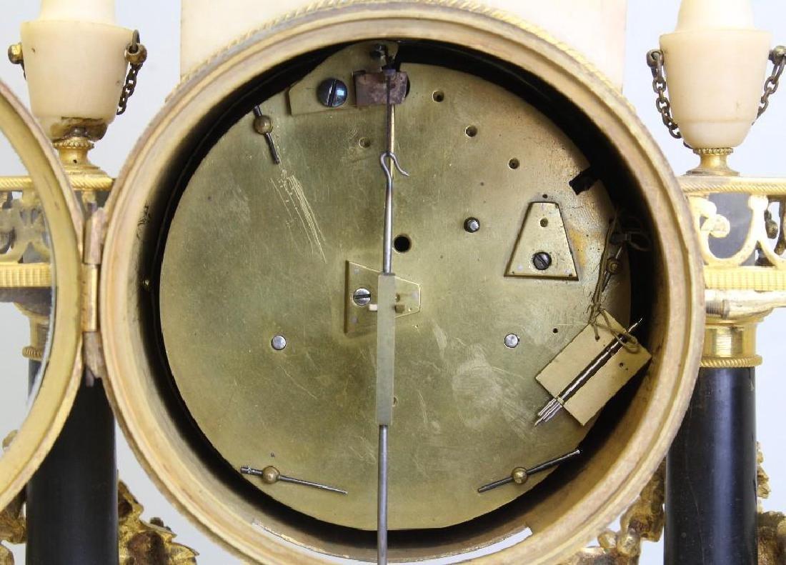 Piolaine White Marble and Ormolu Mantel Clock. - 5