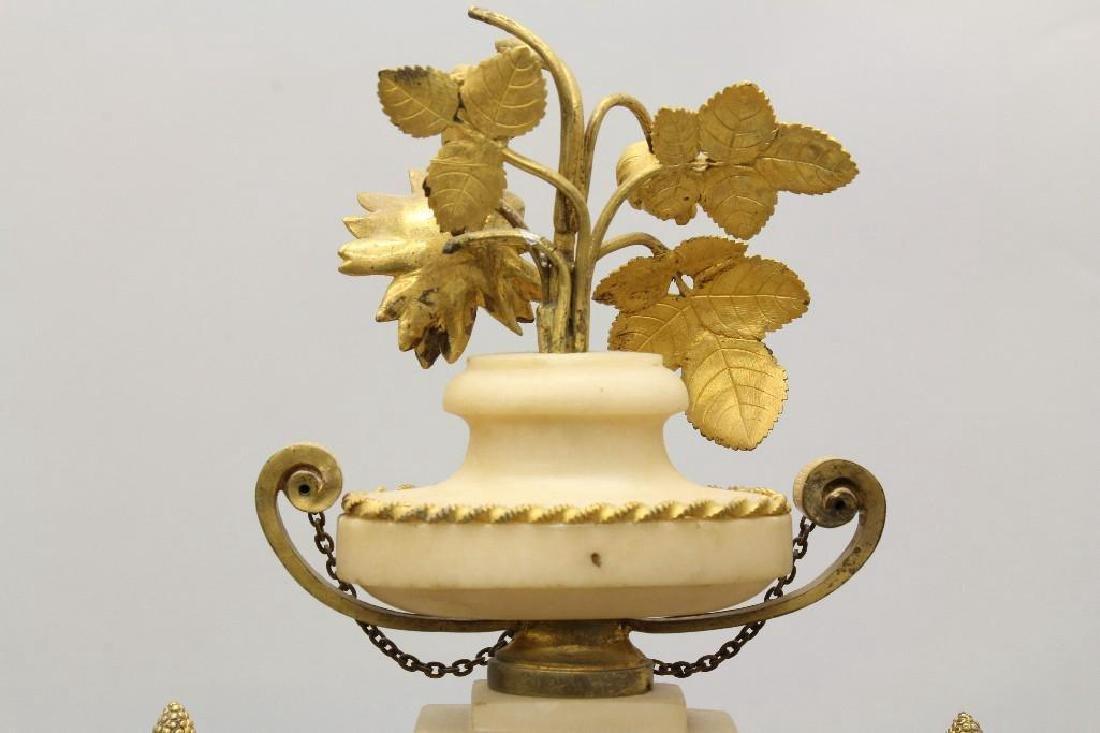 Piolaine White Marble and Ormolu Mantel Clock. - 6