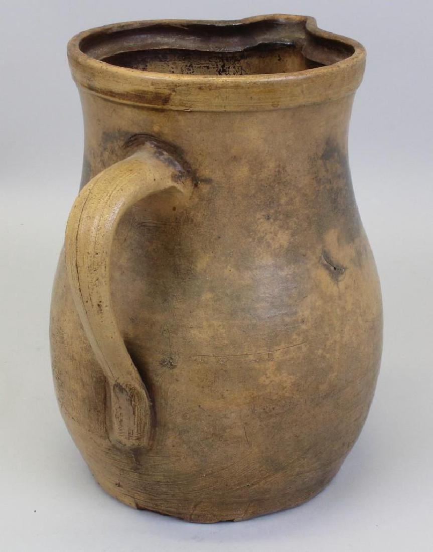 Stoneware Pitcher with Floral Decoration - 4