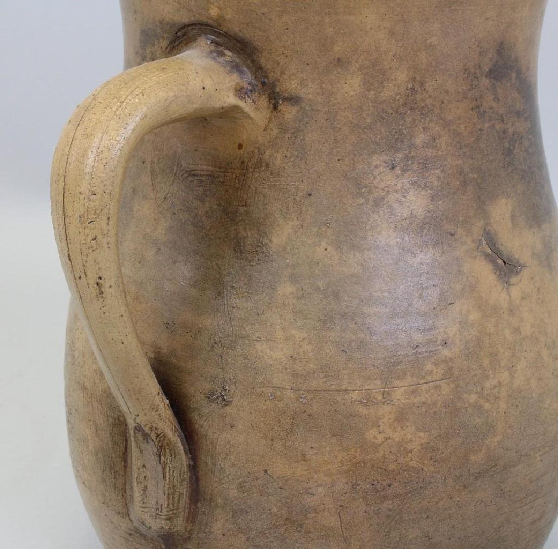 Stoneware Pitcher with Floral Decoration - 5