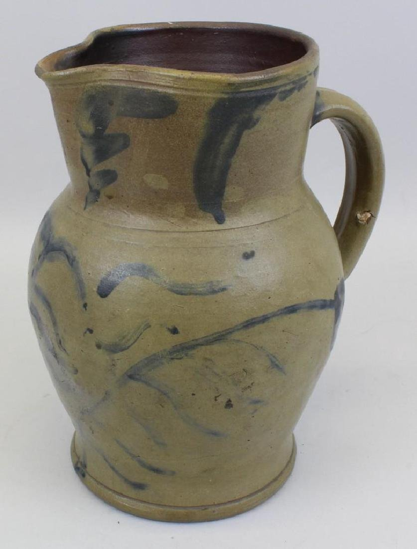 Stoneware Pitcher with Cobalt Decoration - 2