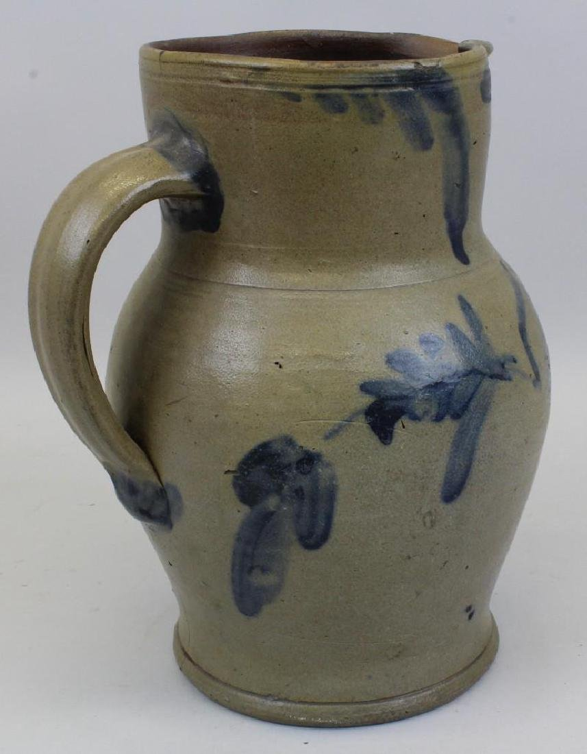 Stoneware Pitcher with Cobalt Decoration - 4