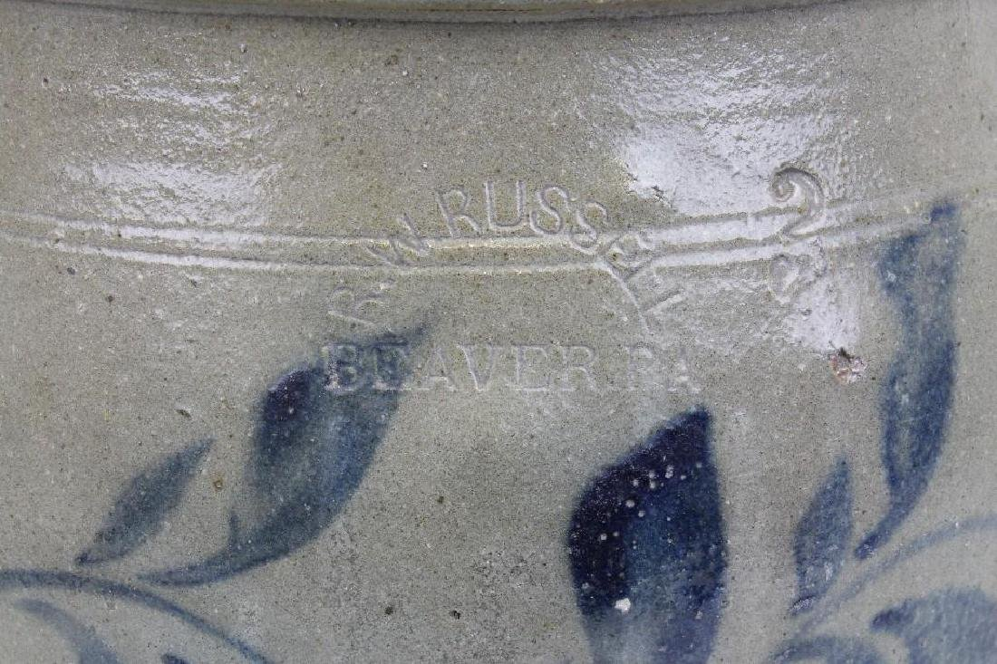 Stoneware, R. W. Russell. 3 Gallon Crock - 3