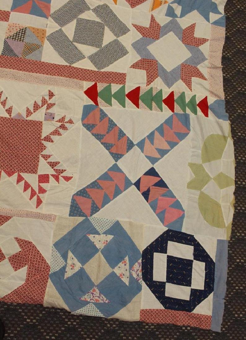 Quilt Top, Sampler Pattern, c.1930 - 2