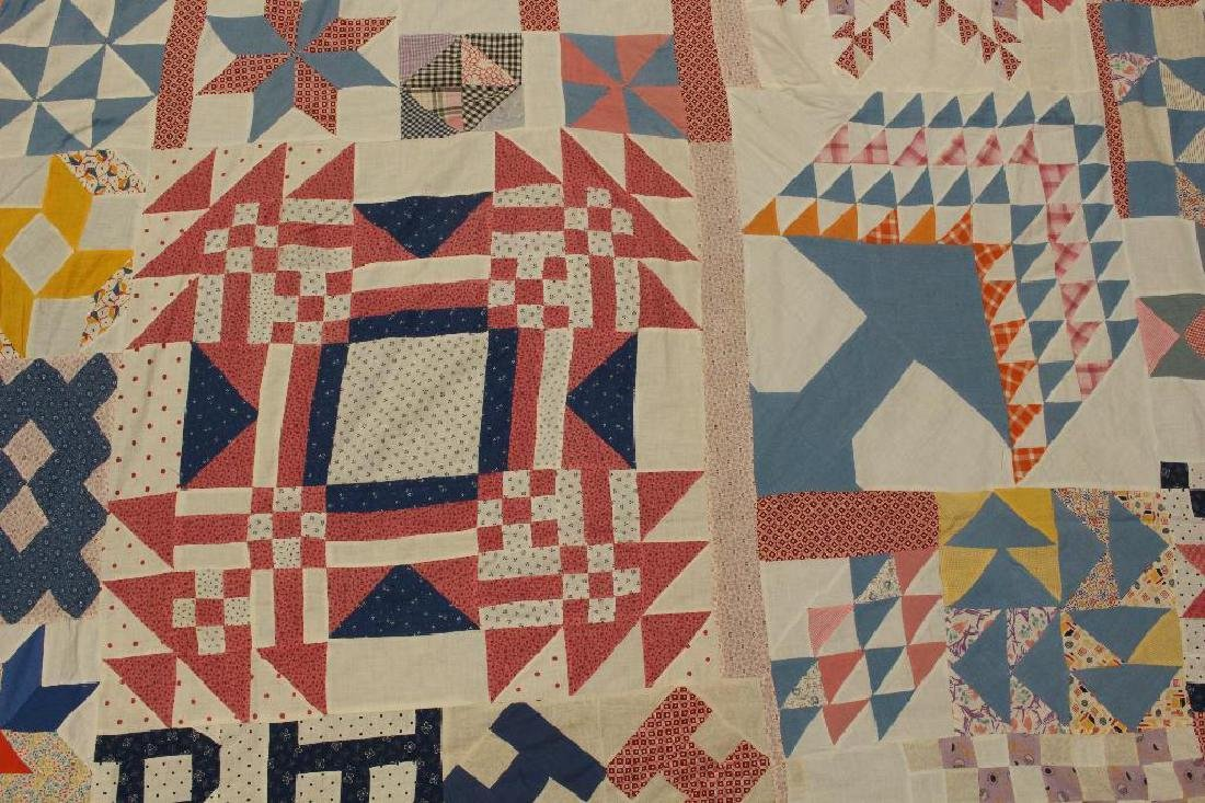 Quilt Top, Sampler Pattern, c.1930 - 3
